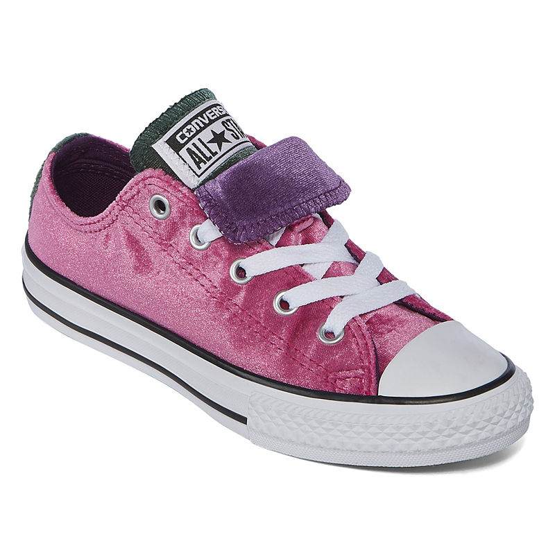18037e451a6e Converse Chuck Taylor All Star Double Tongue Velvet Girls Sneakers - Little  Kids Big Kids
