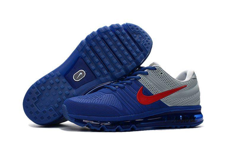 Nike Air Max 2017 Men Blue Grey Red KPU Shoes