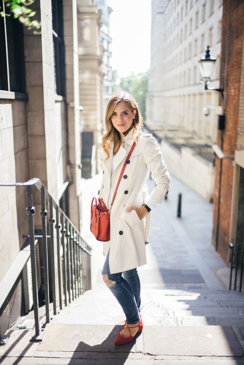 c61ef00bf70 Red Shoes - Burberry Trench in London