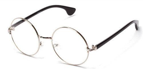 605e23b42b Europe Newest Men women Round Retro Metal Eyeglasses Frames Korean Myopia Glasses  Frame Optical Circle Plain Mirror-in Sunglasses from Women s Clothing ...