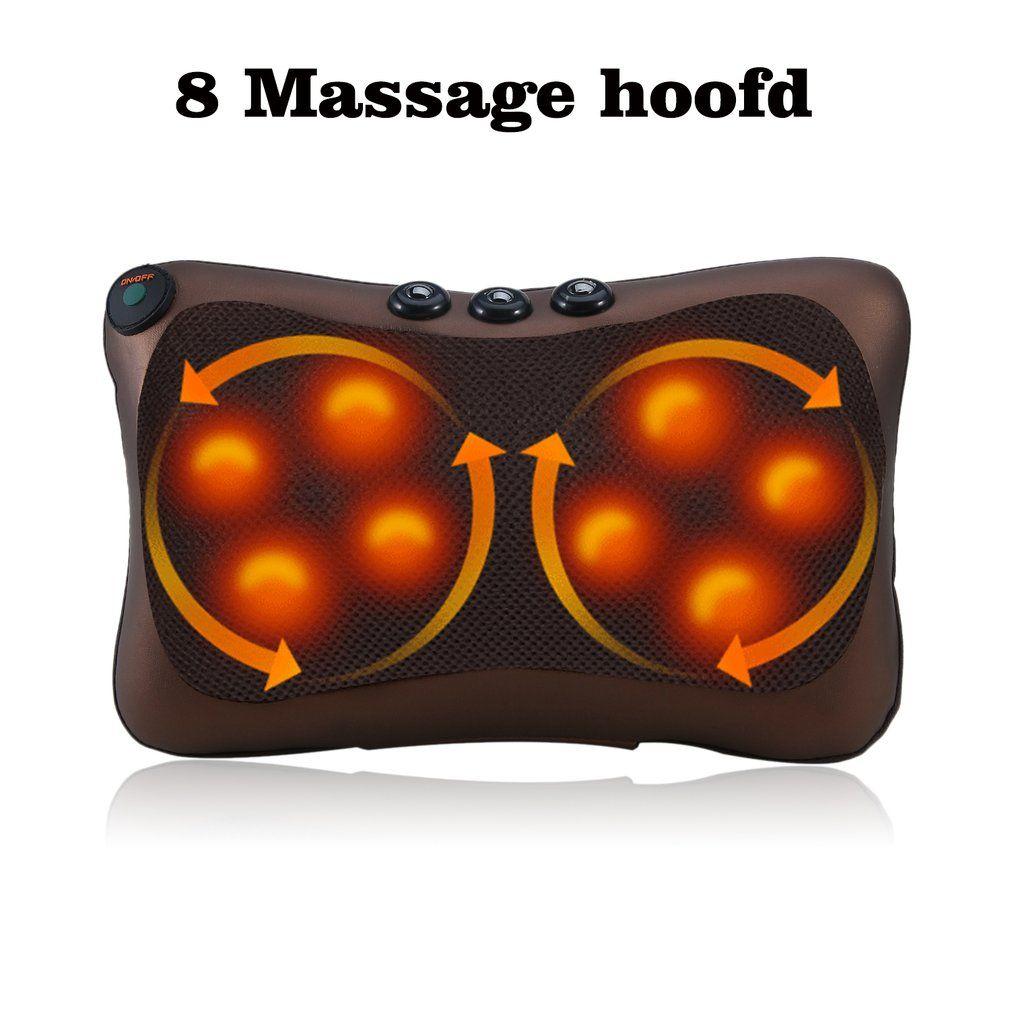 Electric Neck Pillow Massager Cushion Car Home Lumbar Back Waist Shoulder Cervical Body Relaxation Us Eu Plug Chair Neck Massage Massage & Relaxation Health Care