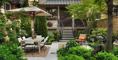 small backyard NO GRASS landscapes - Yahoo Image Search ... on Backyard Ideas No Grass  id=94771