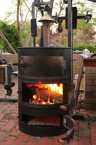 44 gallon drum fire - Google Search | Wood burner, Wood, Stove