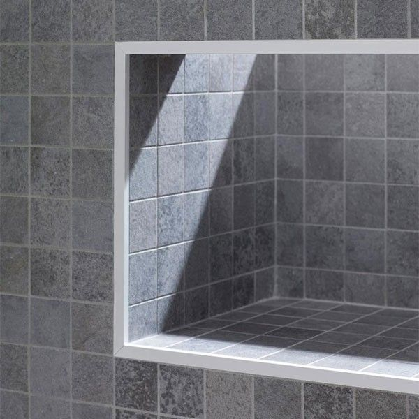 Westchester Master Bath: Porcelanosa Deep Light Grey Nature Mosaic Setting
