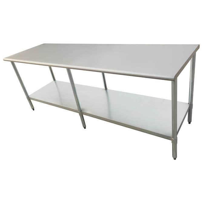 Stainless Steel Work Prep Table 30 X 96 With Undershelf Kitchen Work Tables Table Stainless Steel