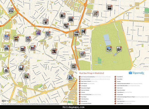 awesome madrid map tourist attractions