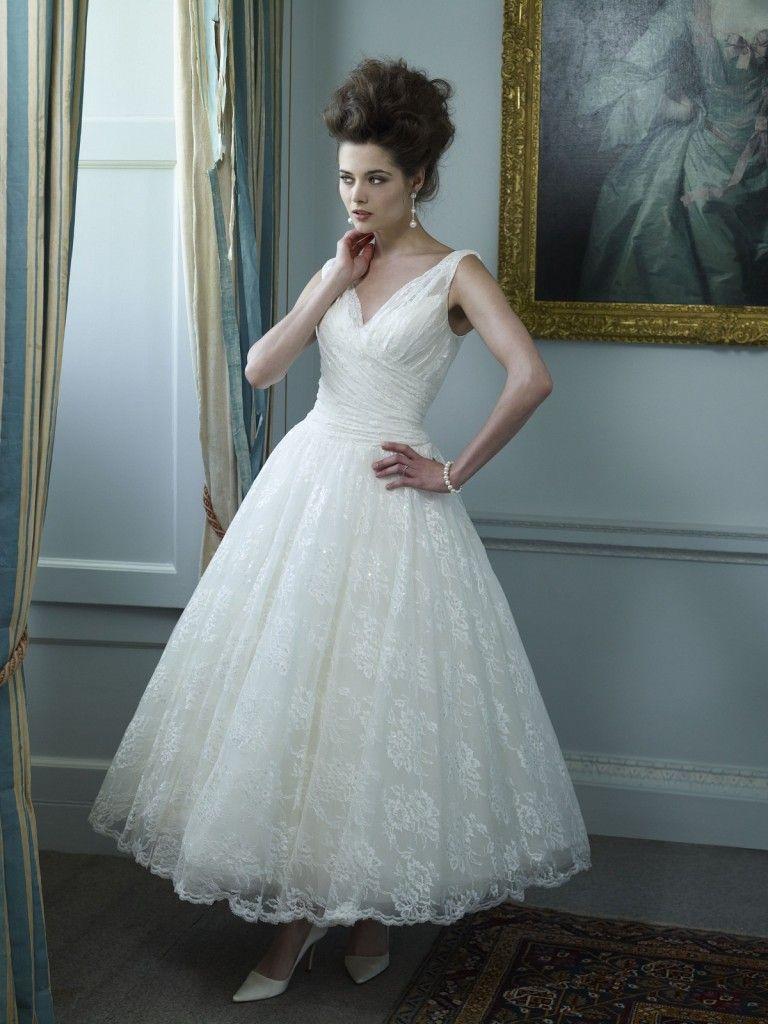 Ian Stuart Tea length wedding dress #Wedding | Short Wedding Dresses ...