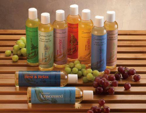 Massage Oil By Soothing Touch Massage Oil Body Care Gift Packaging