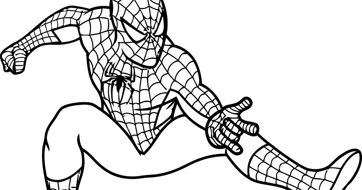 Cute Free Printable Spiderman Coloring Pages