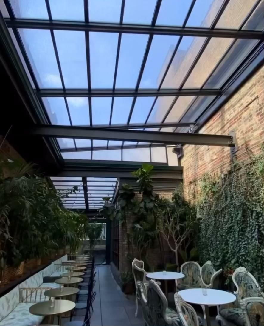 Celeste Retractable Roof Manufactured by Roll-A-Cover