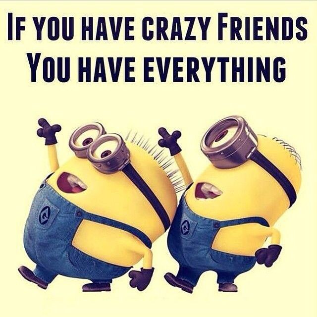 Crazy With Friend Quote : If you have crazy friends everything minions
