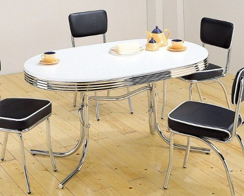 Beautiful Coaster 50u0027s Retro Nostalgic Style Oval Dining Table, Chrome Plated By  Coaster Home Furnishings,