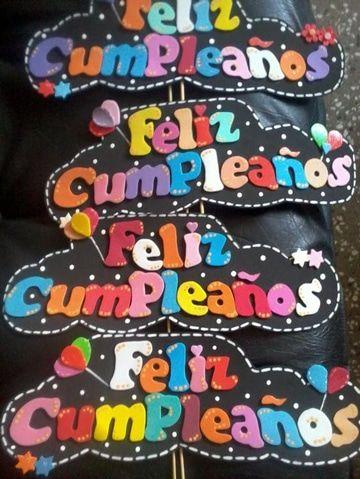 Ideas Geniales De Letras Para Carteles De Cumpleaños Cartel De Cumpleaños Carteles De Feliz Cumple Tablero De Cumpleaños