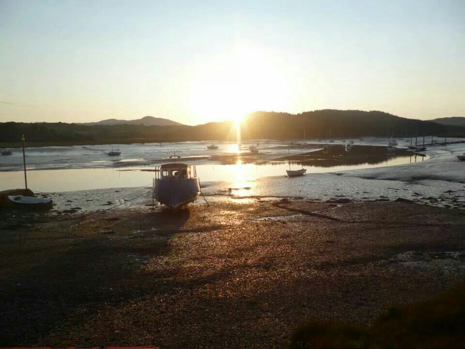 Beautiful picture I took with the tide out, outside the pub in kippford, scotland