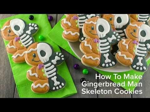How To Make Gingerbread Man Skeleton Cookies Halloween Cookies
