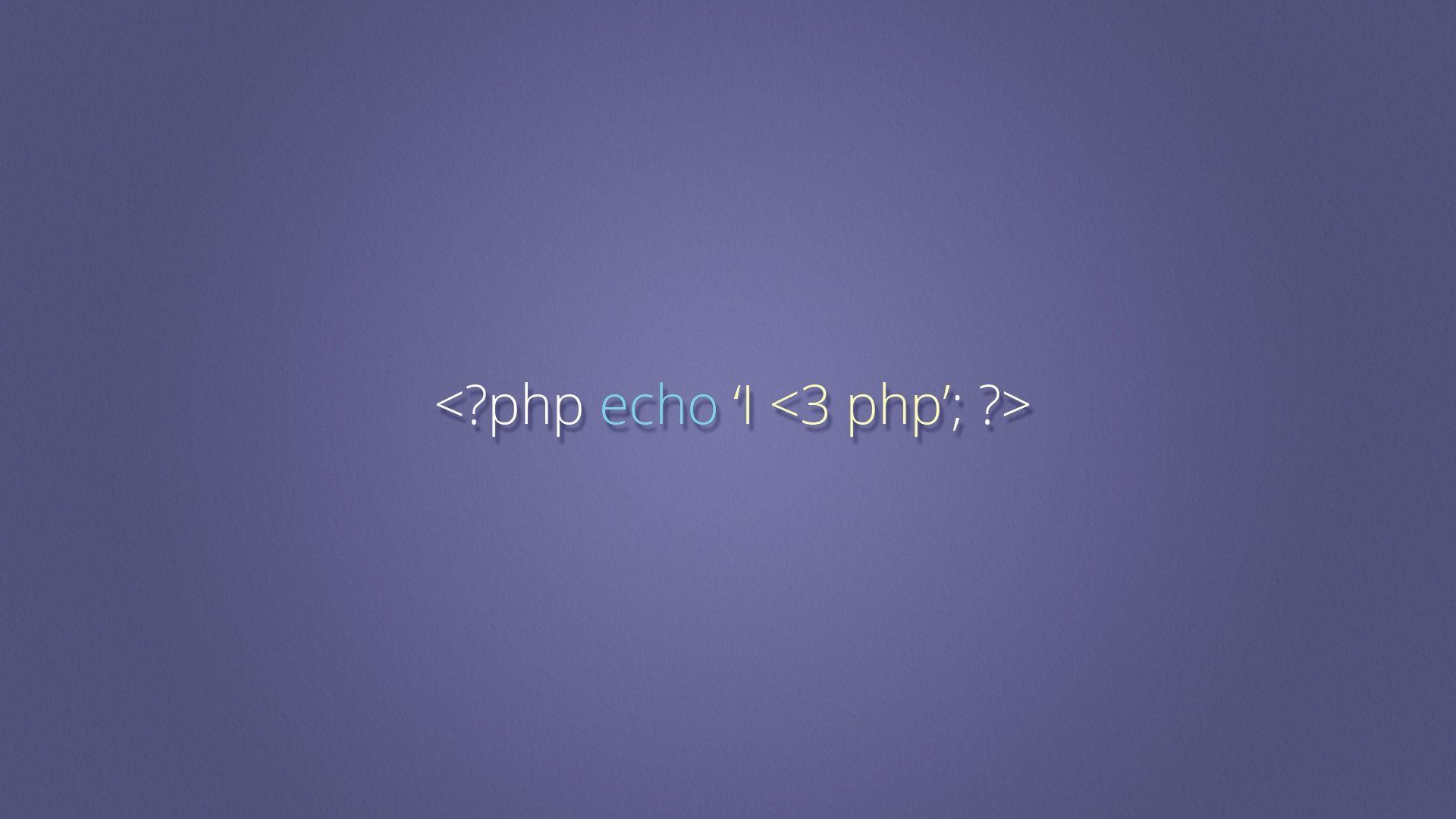 I Love PHP Developer Wallpaper