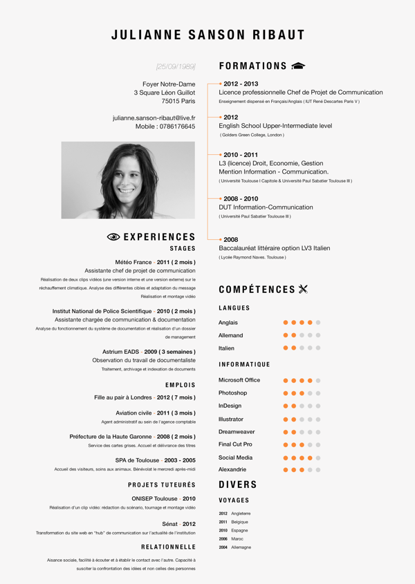 curriculum vitae by valentin moreau via behance curricu1