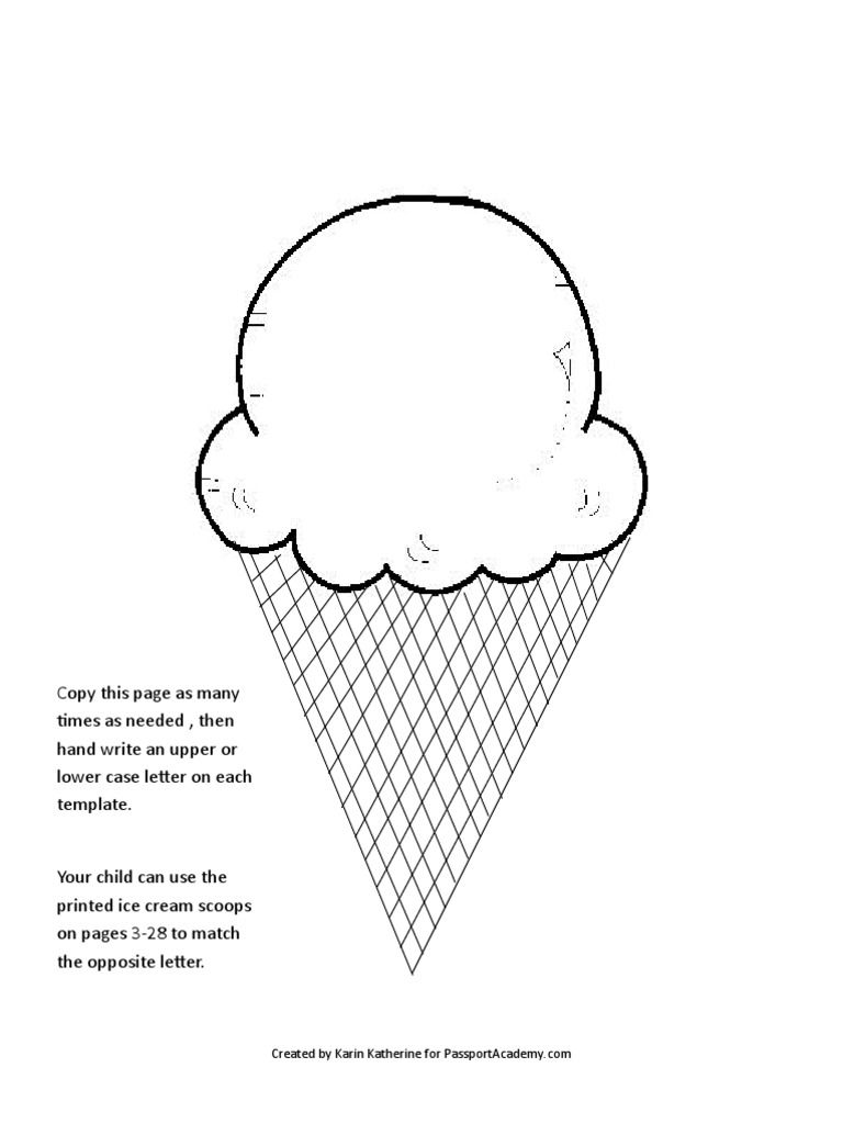 Help Your Child Learn Upperlower Case Letters With This Ice Cream