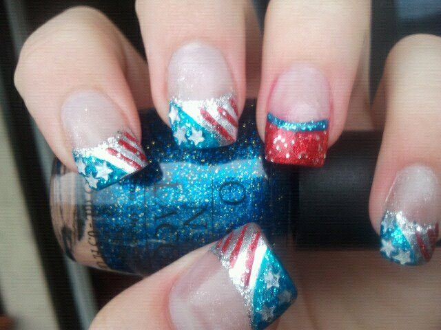Fourth of July Nail art by Cassidy (when a teenager) | CASSIDY\'S ...