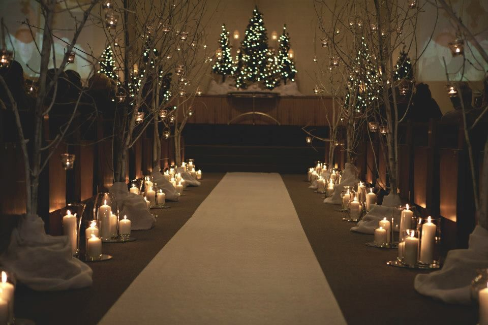 Love The Look Of Tall Tree Branches Lit Up Along Both Sides Of The Isle Tree Branch Wedding Decor Branches Wedding Decor Candle Lit Wedding