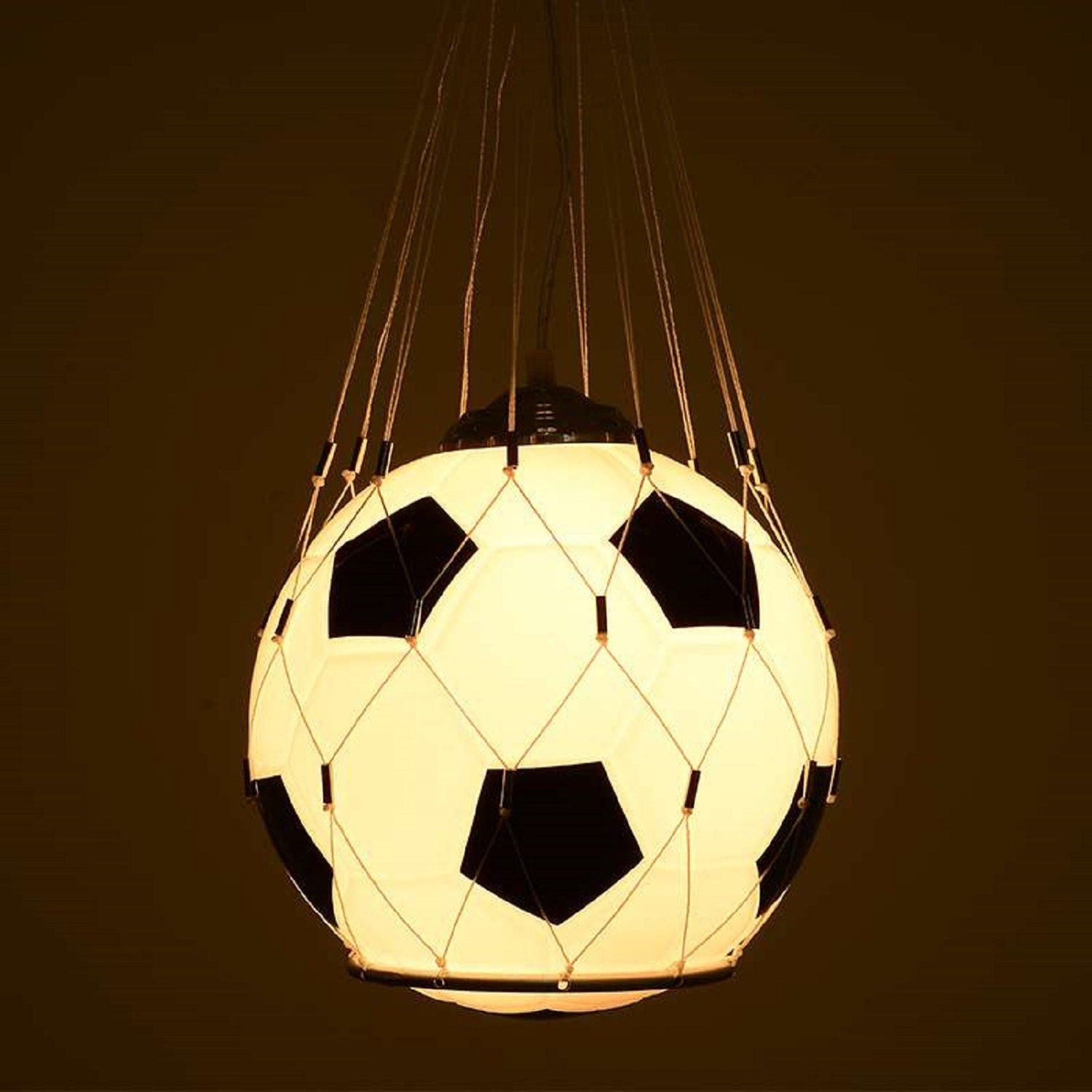 Waineg Single Head Children S Room Football Pendant Lamp Creative Bedroom Living Room Children S Room Glas Led Pendant Lights Football Lights Pendant Lighting