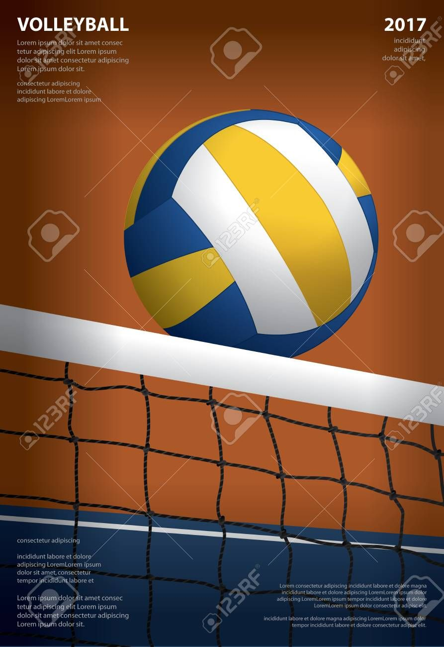 Volleyball Tournament Poster Template Design Vector Illustration Spon Poster Tournament Volleyball Template Ball Exercises Volleyball Stock Photos