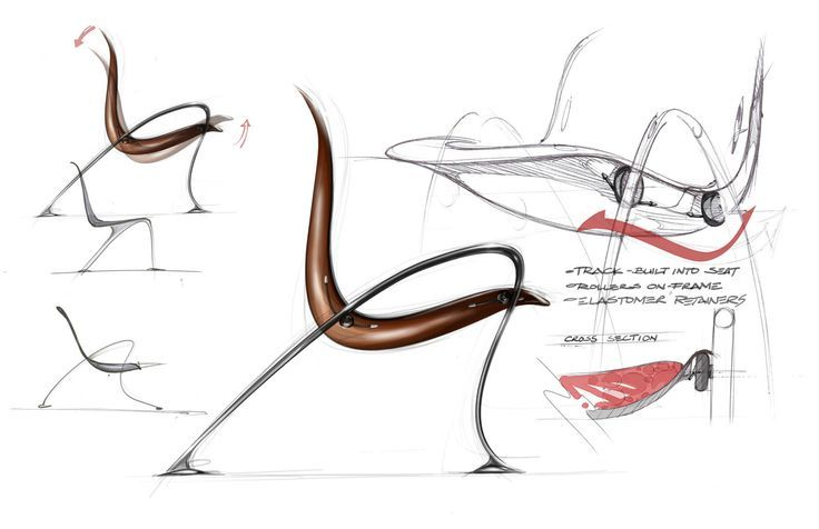 Industrial Design Chair Sketch Bchair B By Mercedes Benz