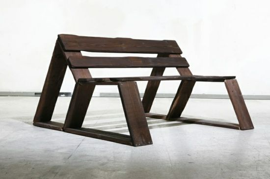 Gartenmöbel Aus Paletten U2013 Trendy Außenmöbel Basteln   Diy Bank  Konstruktion Aus Europaletten Gartenmöbel