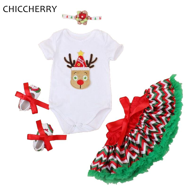 Click to Buy \u003c\u003c Reindeer Christmas Clothes for Baby Girl Bodysuit