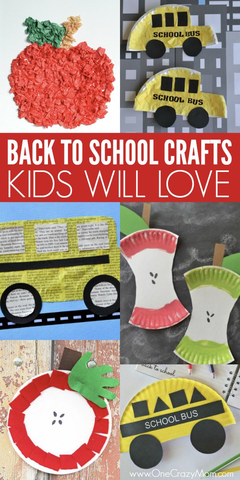 Back to School Crafts for Kids - 15 back to school crafts perfect for kids