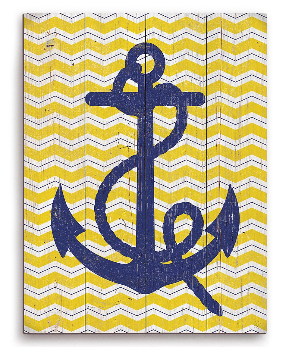 Another great find on #zulily! Blue Anchor Wall Art by Image Canvas ...