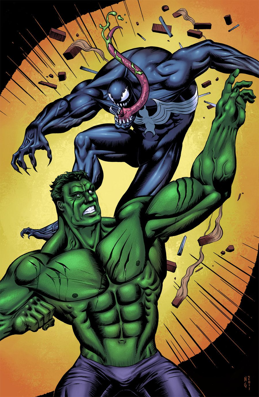 #Hulk #Fan #Art. (Venom vs Hulk) By: Electronicron. (THE * 5 * STÅR * ÅWARD * OF: * AW YEAH, IT'S MAJOR ÅWESOMENESS!!!™)[THANK Ü 4 PINNING!!!<·><]<©>ÅÅÅ+