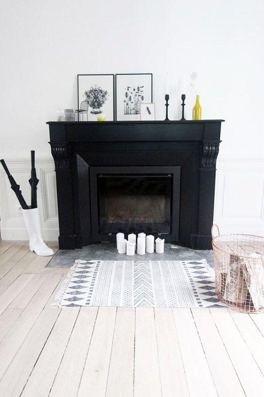 Make Way For Spring Mantels Sfgirlbybay Fireplace Tile Black