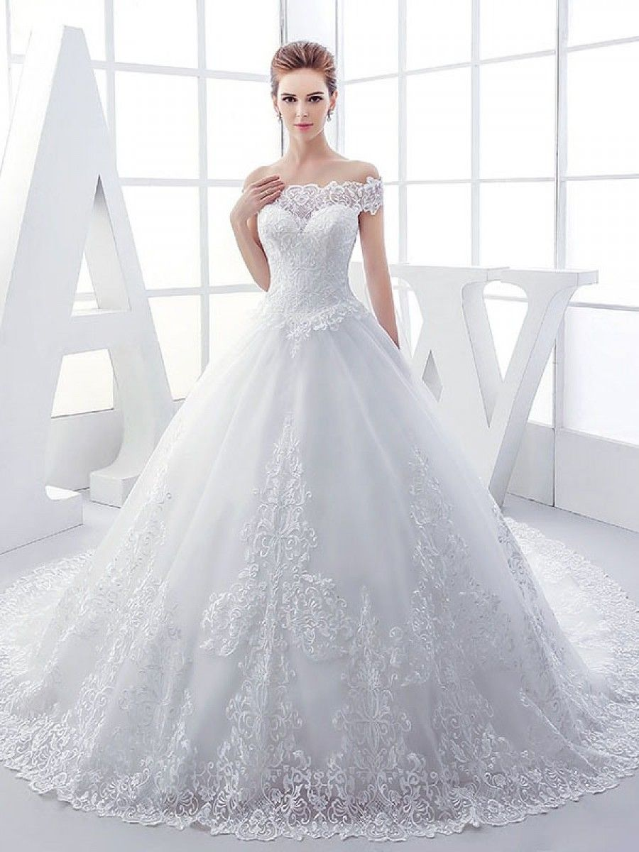 Styles of wedding dresses  Lace Ball Gown OfftheShoulder Wedding Dresses Bridal Gowns