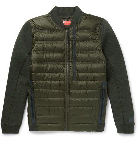 5aa92311de28 NIKE Aeroloft Slim-Fit Padded Shell And Tech Fleece Down Bomber Jacket.   nike  cloth  coats and jackets
