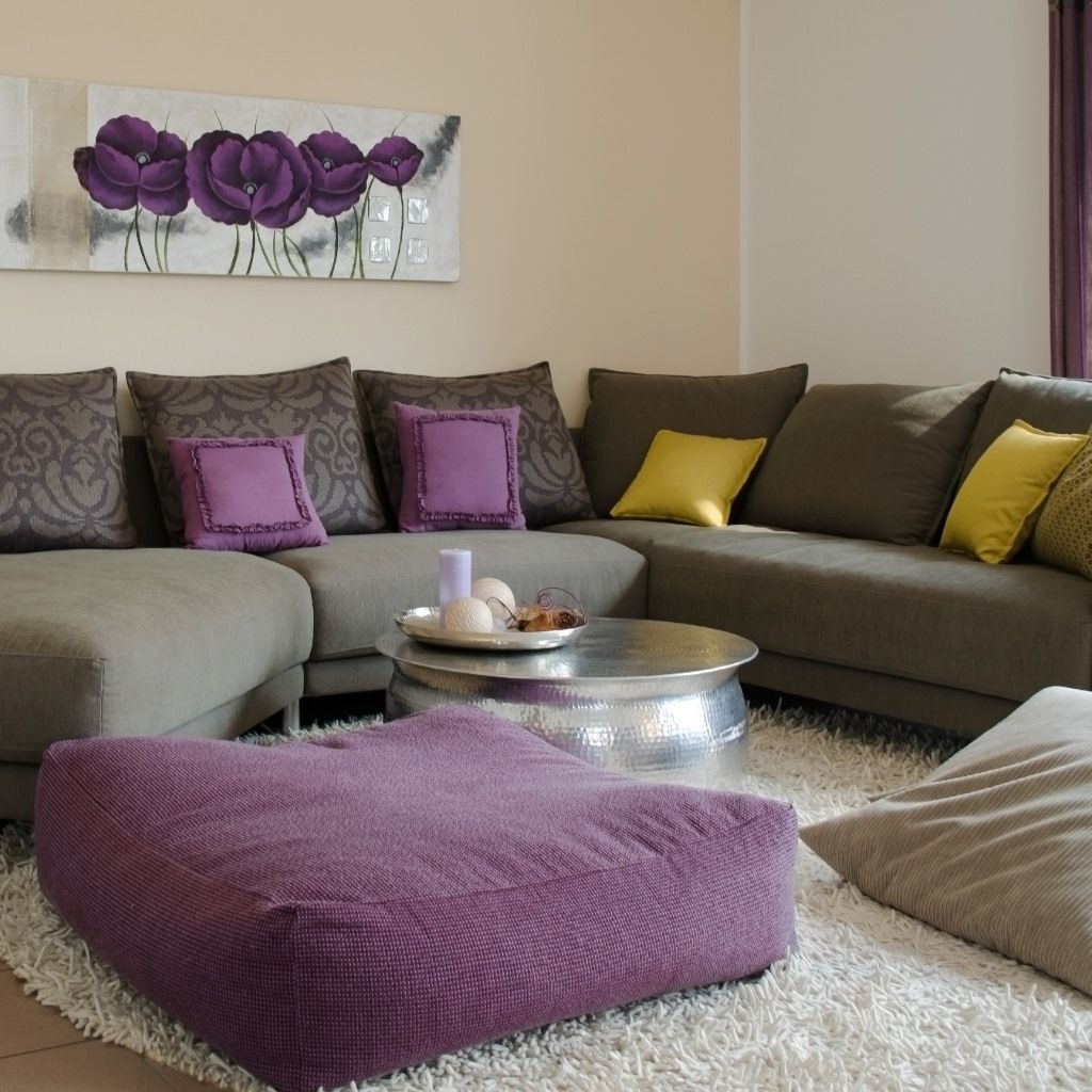 jaune et violet la d co tendance de l automne la deco violettes et jaune. Black Bedroom Furniture Sets. Home Design Ideas