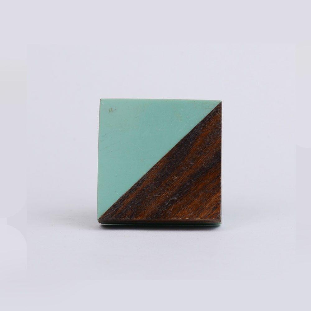 Door Knobs square door knobs pics : Double Triangle Resin Wood Drawer Knob   Fusion Door Knobs & Pulls ...