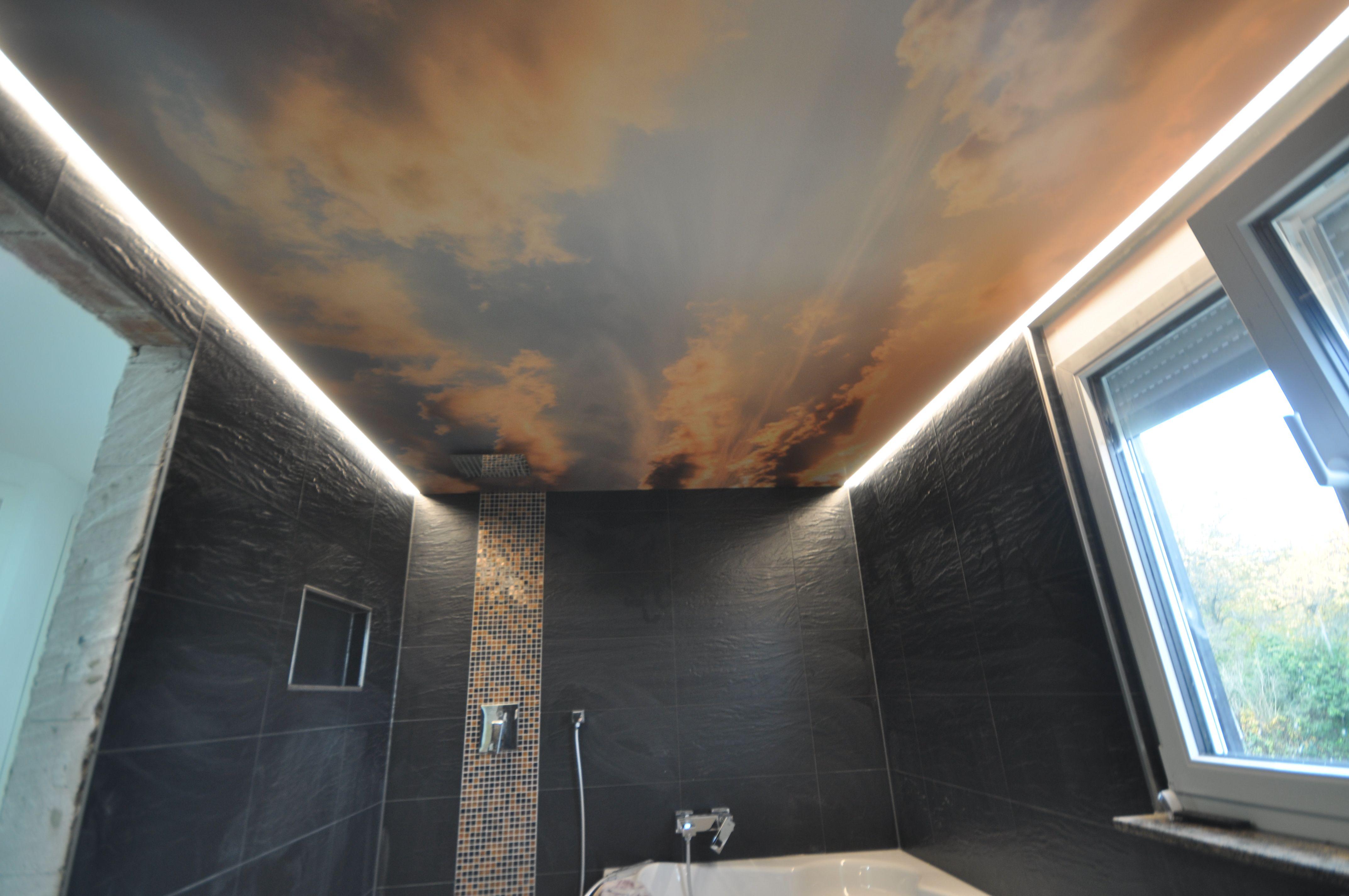 Spanndecke Mit Wolkenhimmel Spanndecken Lichtwande Wandbespannungen