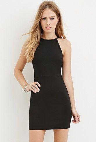 2466252423c Embellished Bodycon Halter Dress