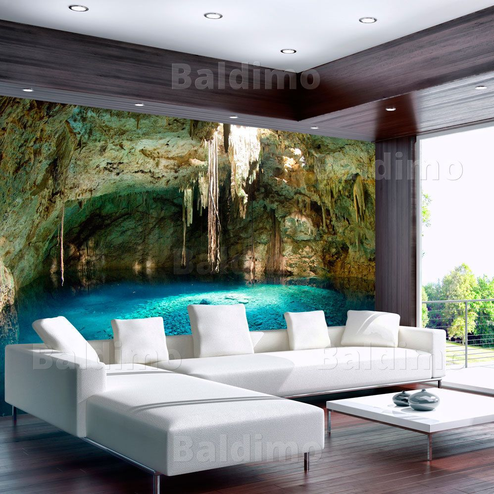vlies fototapete tapeten xxl wandbilder tapete grotte 10110903 26 ebay wandtatoo 39 s. Black Bedroom Furniture Sets. Home Design Ideas