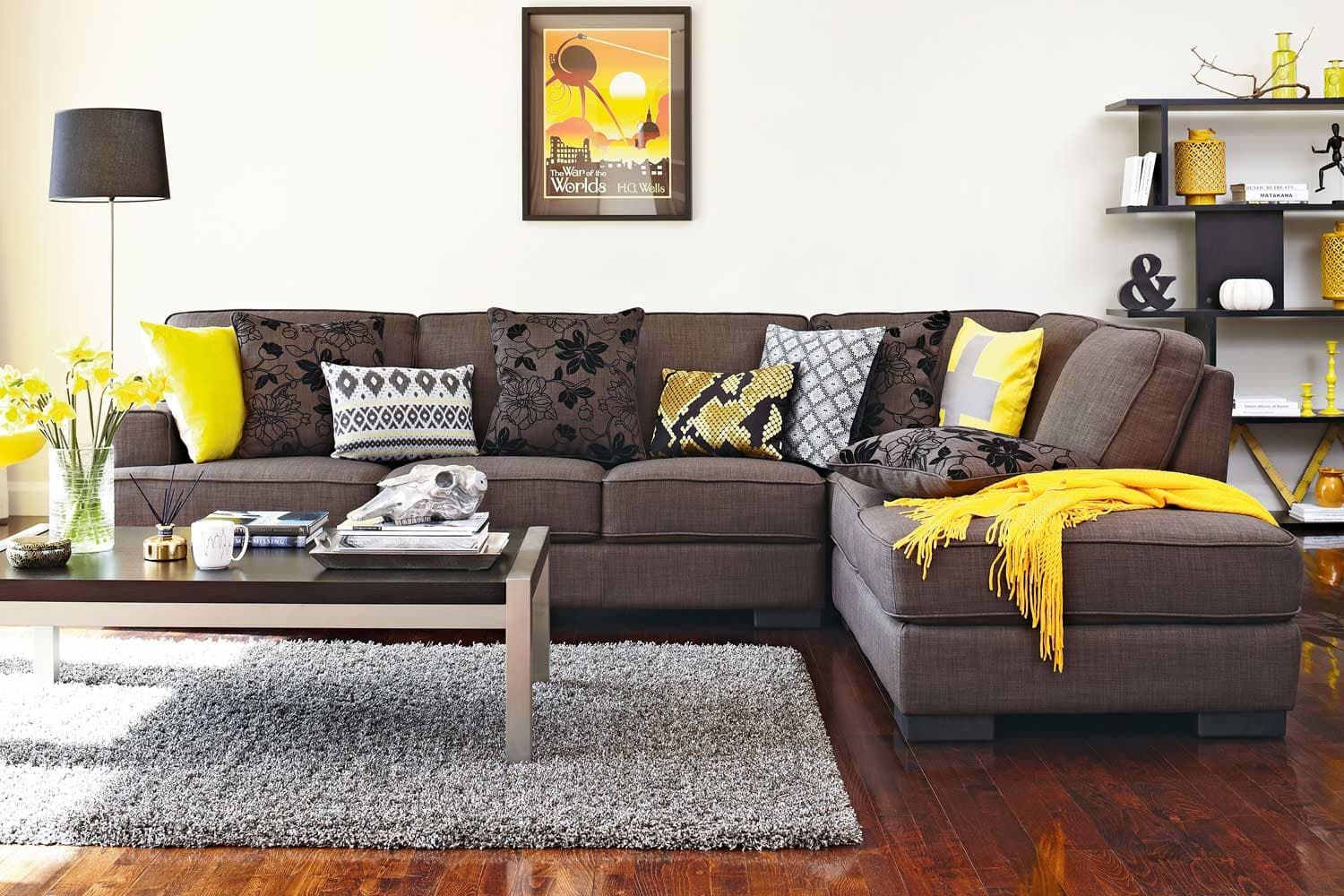 Slate 4 Seater Fabric Corner Lounge Suite | Lounge suites, Slate and ...