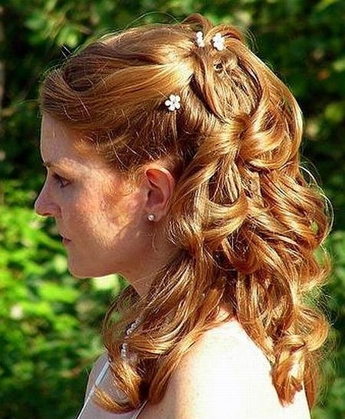 Half Up Wedding Hairstyles For Medium Hair Mother Of Bride