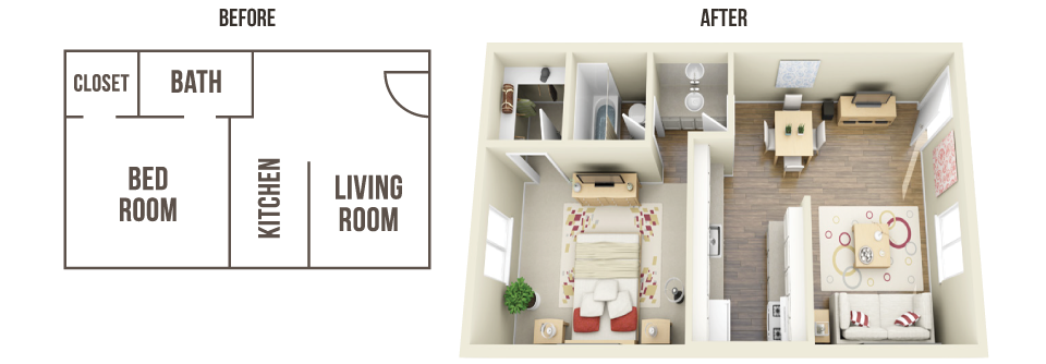 3d Floor Plans For Apartments Resident360 Floor Plans Apartment Floor Plans Apartment