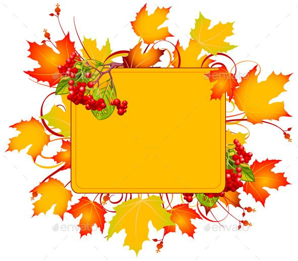 Autumn Leaves Frame Fall Picture Frame Fall Borders Fall Clip Art