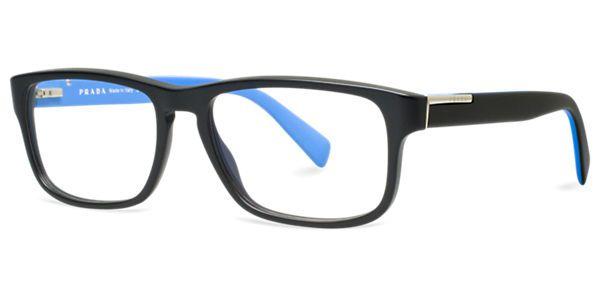 Frames | Men\'s Prada Rectangular Full Rim Glasses in Black ...