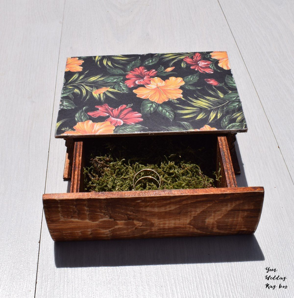 Hawaii wedding ring bearer box, destination wedding ideas