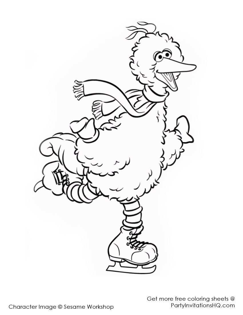 Christmas coloring pages sesame street christmas for Grover sesame street coloring pages