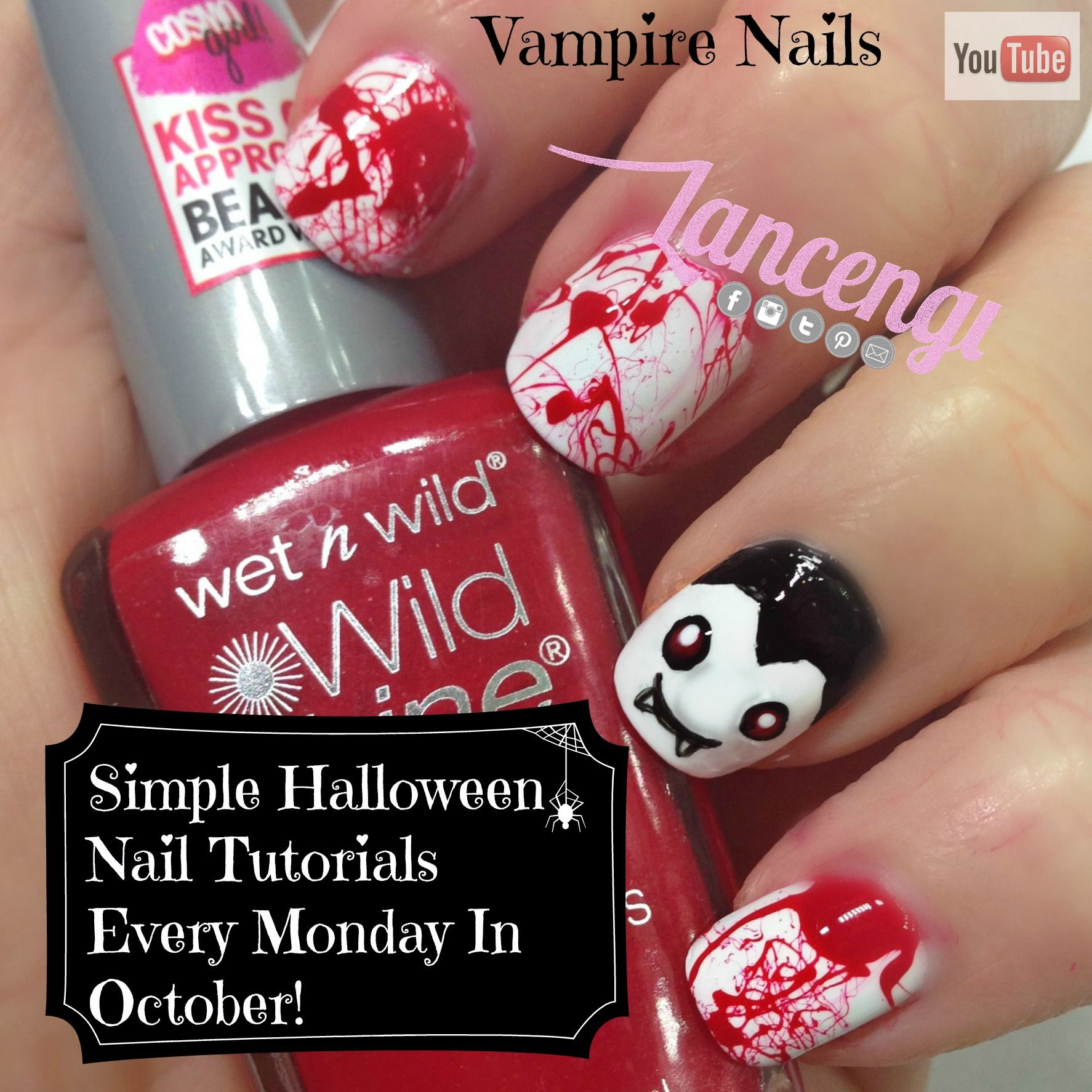Do you love Vampire nail art designs? Learn how to recreate this ...