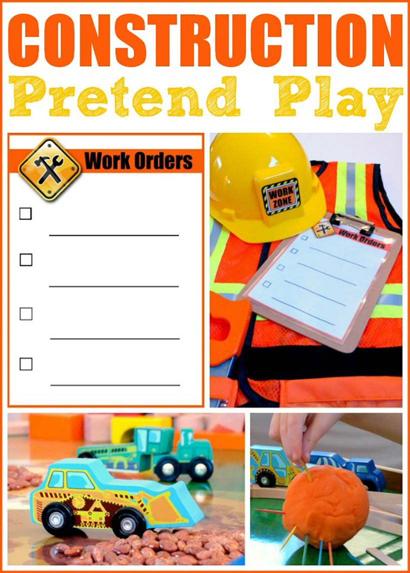 Construction Worker Pretend Play Ideas For Kids Melissa Doug Blog Dramatic Play Preschool Construction Dramatic Play Preschool Construction