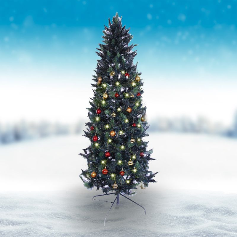 Oncor 210cm 7 Foot Green Slim Parana Pine 578 Tips Christmas Tree Buy Online At Qd Stores Christmas Tree Xmas Tree Decorations Tree